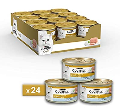 Gourmet Purina Gold Wet Cat Food Mousse with Ocean Fish - 24 Cans of 85 g Each (Pack of 24 x 85 g) from Nestle Purina