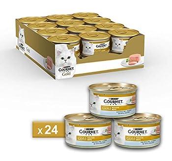 Gourmet Purina Gold Nourriture Humide Mousse pour Chat au Poisson de l'océan–24boîtes de 85g chacune (Pack de 24x 85g)