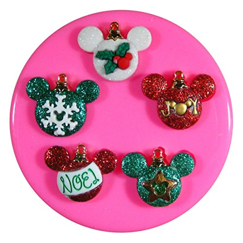 Decoración navideña Mickey y ratón de Minnie Molde de silicona para la torta de Decoración Pastel de Cupcake Toppers Glaseado Sugarcraft Tool por Fairie Blessings