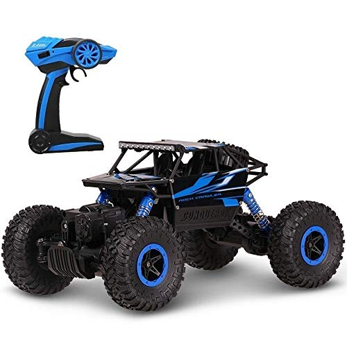 PETRLOY 2.4G All Terrain High Speed ​​Off Road Fernbedienung Auto, Radio Controlled Off-Road Klettern Autos 4WD Große Maßstab 1:18 RC Buggy-Träger-LKW Klettern Racing Spielzeug schnell mit Dämpfungs-S