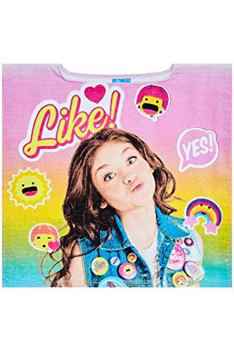 Disney Poncho de baño Luna Girl sin Gorro de algodón 100% en Color Rosa, para niños, niñas