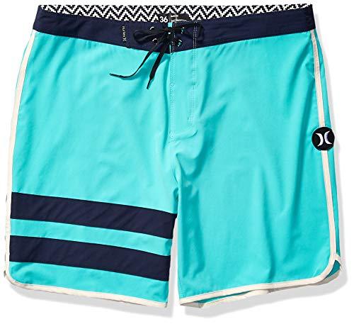 Hurley Men's Phantom Block Party Solid Board Shorts, Hyper Jade, 38