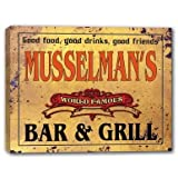 MUSSELMAN'S World Famous Bar & Grill Stretched Canvas Print