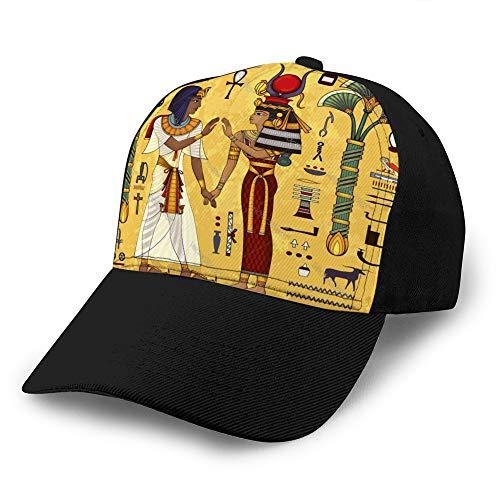 Holefg3b Sombrero de Camionero Gorra de Malla de béisbol Unisex para Adultos Mitología egipcia Cultura Antigua Cantar y símbolo para Hombres Mujeres