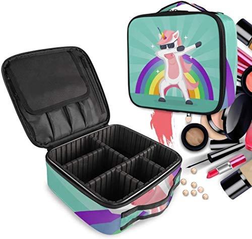 Cosmétique HZYDD Arc-en-Danse Unicorn Make Up Bag Trousse de Toilette Zipper Sacs Maquillage Organisateur Pochette for Compartiment Femmes Filles Gratuit