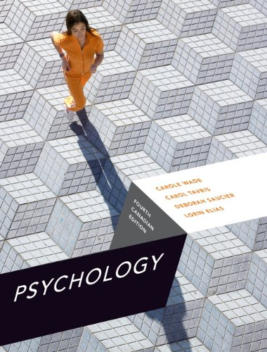 Psychology, Fourth Canadian Edition [Hardcover] by Carole Wade