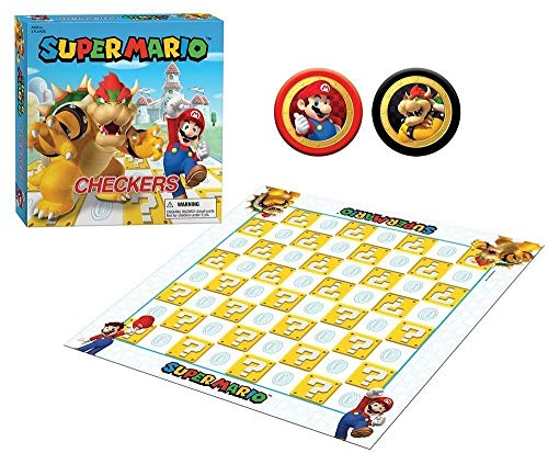 USAopoly Super Mario Bros. Checkers Super Mario VS Browser Juegos Mesa