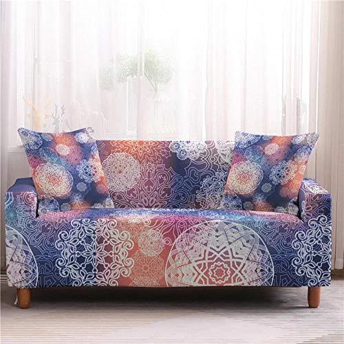 Universal Cubre Sofas Ajustables 1/2/3/4 Plazas Fundas De Sofá para Sala De Estar Protector De Muebles Mandala Funda De Sofá para Silla-1-Seater_Color2