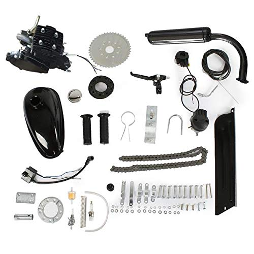 Rends Stroke 50cc 2-Stroke High Power Engine Bike Motor Kit Cycle Maximum Speed 38km/h Gas Engine Motor Fit for 26' Bicycle Scooter (Black)