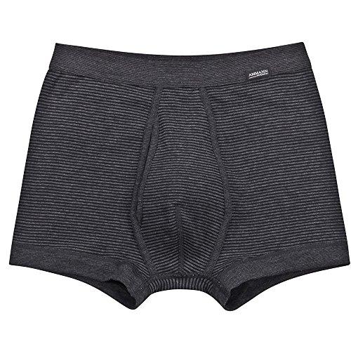 Ammann 2er Pack Herren Shorts – Unterhosen mit kurzem Bein - Mit Eingriff und Weich-Elastikbund – Doppelpack – Farbe Anthrazit - Größe 6
