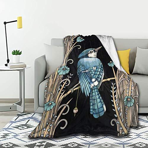 SPIRITFREE Manta de franela para colibrí, ligera, acogedora, suave, cálida y de felpa, 50 x 40 pulgadas para niños