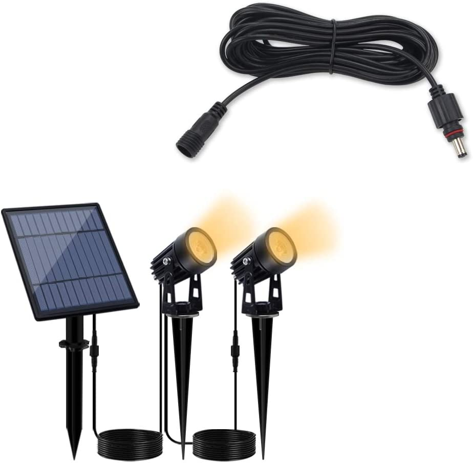 Bundle of 2 Items - APONUO Landscape Solar Powered 16.4ft Lights Limited price Fixed price for sale