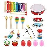 LinStyle Strumenti Musicali per Bambini, 24Pcs Set Strumenti Musicali Percussioni Giocatto...