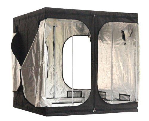 BIRCHTREE Quality Portable Grow Tent Silver Mylar Green Room Hydroponic Bud Room Dark Room 200cm x 200cm x 200cm for Gardening Hydroponics