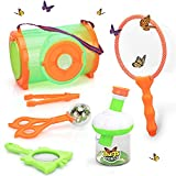 INCLUDES EVERYTHING YOU NEED - Your little one will be ready to start exploring straight out of the box. The outdoor adventure toys kit includes a butterfly net, an observation jar, large insect catching box, insect trap, tweezers, and magnifying gla...