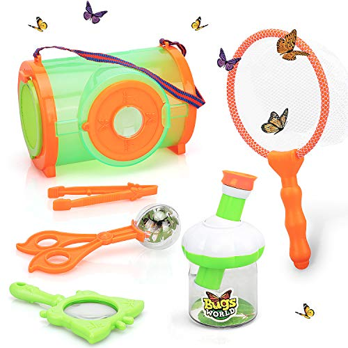 STEAM Life Bug Catcher Kit for Kids - Kid Explorer Kit - Bug Collection Kit Insect Catcher - Outdoor Explorer Set for Kids - Butterfly Net - Bug Cages - STEM Science Toy for Boys and Girls 3 4 5 6 7 8