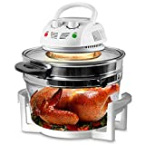 Nutrichef PKAIRFR48.5 Air Fryer, Infrared Convection, Halogen Oven Countertop, Cooking, Stainless Steel, 13 Quart 1200W, Prepare Quick Healthy Meals, for French Fries & Chips (White) [並行輸入]