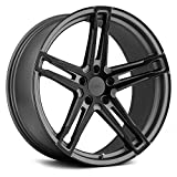 TSW MECHANICA Custom Wheel - 19x10.5, 27 Offset, 5x114.3 Bolt Pattern, 76.1mm Hub - Matte Gunmetal with Matte Black Face Rim
