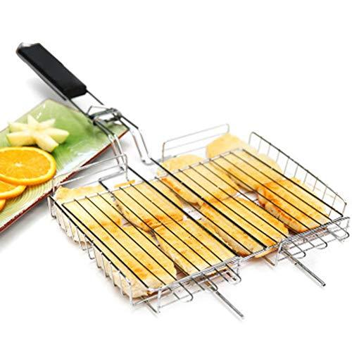 511qroFeEHL - SJYDQ NAZHIJINGKEJI Titan Grill im Freien Barbecue Net Picknick Grill Platte Küche Grill Zubehör Durable Küchenwerkzeug mit Griff