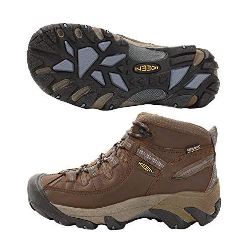 KEEN Women's Targhee II Mid Waterproof Hiking Boot,Slate Black/Flint Stone,8 M US