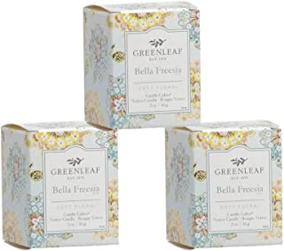 GREENLEAF Scented Votive Candle - Bella Freesia, 3-Pack