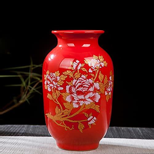 Retro Jarrón Artificial De Flores Tradicional Jarron De Ceramica Antiguo Florede De...