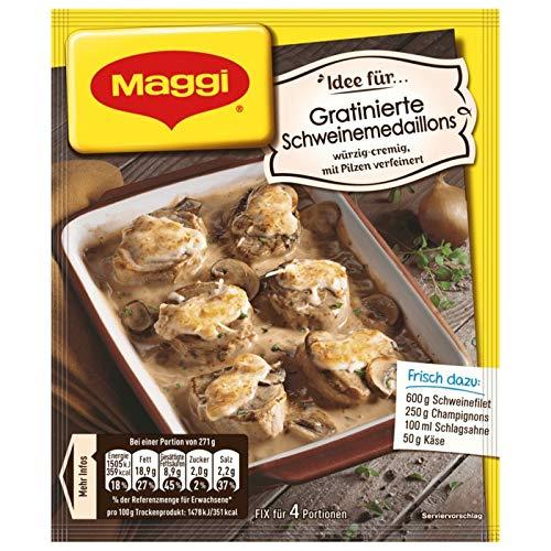 Maggi Idee für gratinierte Schweinemedaillons 9 x 42g
