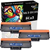 ColorPrint Compatible Toner Cartridge Replacement for MLTD111S D111S MLT-D111S 111S Work with SL-M2020W SL-M2022W SL-M2024W SL-M2070 SL-M2070W SL-M2070F M2070FW Printer (3-Pack)