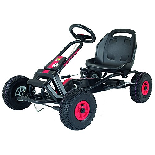 Kettler T01050-0000 Barcelona Air - Kart a Pedali, Colore: Rosso