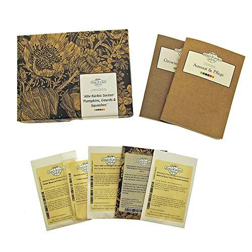 Alte Kürbissorten - Samen-Geschenkset mit 5 wohlschmeckenden & dekorativen Sorten
