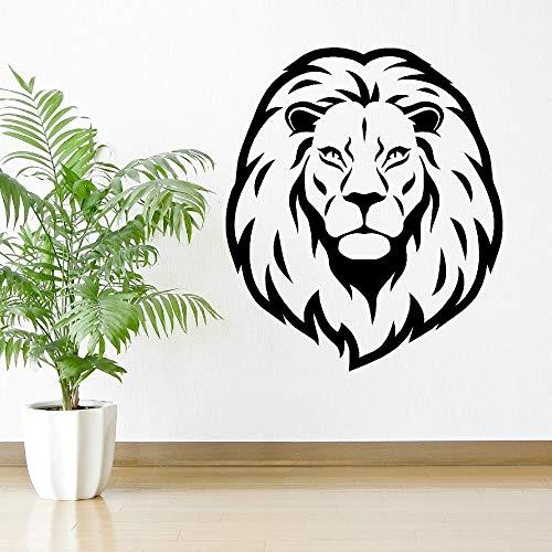 Tianpengyuanshuai Extraíble Art Lion Head Animal Etiqueta de la Pared Etiqueta de Vinilo Home Art Deco Wallpaper Sala de Estar Decoración Etiqueta de la Pared 63X73.5cm
