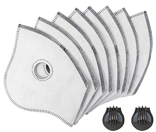 Axsyon Filter & Valve Replacements for Dust Mask 8 Pack of Filters, 2 Valves