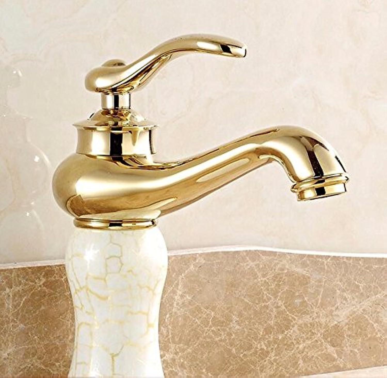 ETERNAL QUALITY Bad Waschbecken Wasserhahn Küche Waschbecken Wasserhahn Kupferne Heie Und Kalte Unter Gegenbassinmarmorjade Waschtischmischer BQ1775ca