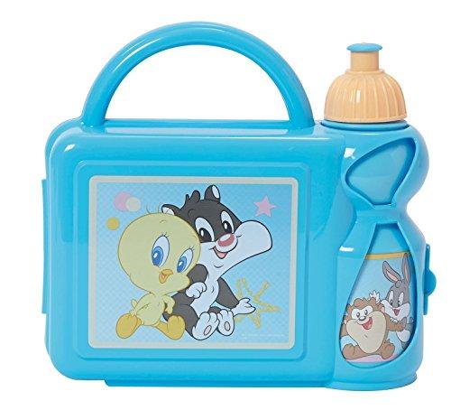 FUN HOUSE Baby Looney Tunes - Set Snack: 1 Borraccia + 1 Scatola da 350 ml