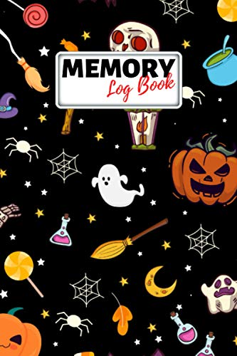 Memory Log Book Journal: Glamping Keepsake Memory Book with Prompts to Write in for Travel Adventure Notes, Record Memories Every Day of the Year! - Halloween Themed Cover Diary