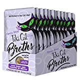 Tiki Cat Savory Broth, Grain Free Lickable Wet Food Treat Flavor Booster, Duck & Chicken, 12 Pack