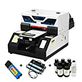 ZYT Completo Automático A4 UV Impresora, Cama Plana Impresoras UV pequeñas con Rip 9.0 para teléfono Estuche, Botella, Bolígrafo, Encendedor, Acrílico, Madera, Vidrio