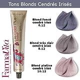 Coloration cheveux FarmaVita - Tons Blonds Cendrés irisés Blond foncé cendré irisé 6.12