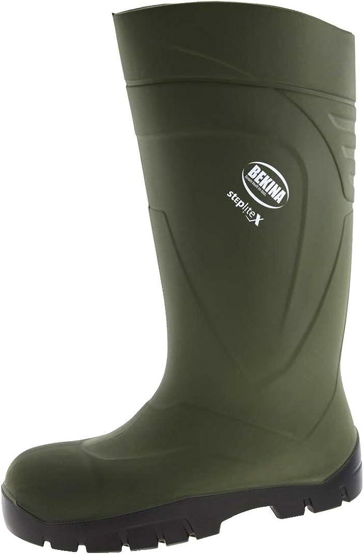 Bekina StepliteX Polyurethane Safety Wellington Boots Green Size PU