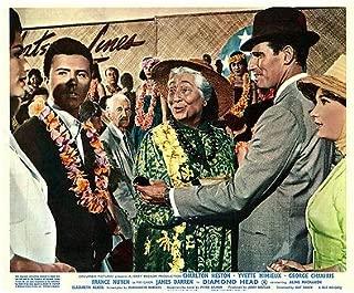 Diamond Head Original Lobby Card Charlton Heston Yvette MIMIEUX James Darren '62