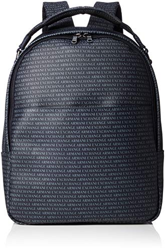 AX Armani Exchange Men's Logo Print Backpack, Navy/Navy, One Size