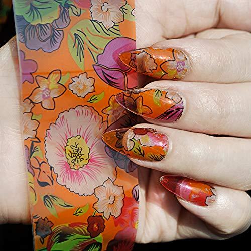 nobranded Faux Ongles 1 Bouteille = 1 Mètre Orange Base Design Nail Art Feuille Autocollant Colle Transfert Feuille Autocollant Nail Décoration