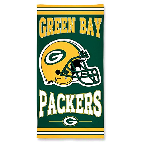 """Offizielles NFL \""""Green Bay Packers\"""" Strandhandtuch, Badetuch in 75x150 cm"""