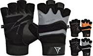 ALL-PURPOSE GLOVES: Suitable for Weight Lifting, Pull Up, Exercise, Fitness, Gym Training and General Workouts. The authentic cow hide leather weight lifting gloves are durable, long-lasting and washable. Perfect for practical use. GET A STRONGER GRI...