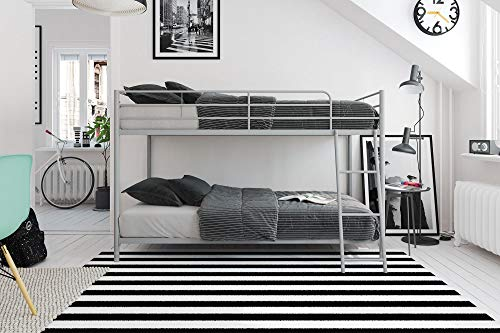 Product Image of the DHP Junior Twin, Low Bed for Kids, Silver Bunk