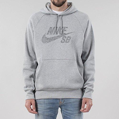 Nike SB ICON DOTS PO Hoodie - Sweatshirt Grau - XL - Herren