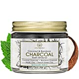 Era Organics Tooth Whitening Charcoal Powder - Premium Organic Coconut & Bamboo Tooth Whitener Powder with Kaolin Clay, Bentonite Clay, Peppermint & More for Brighter Smile & Healthier Gums 2.0oz/56.6