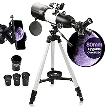 Telescope for Adults & Kids Monocular Refractor Telescope for Astronomy Beginners Professional 400mm 80mm with Tripod & Smartphone Adapter