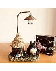 Dhl Elf Gato luz de la Noche Casa de Madera Protección de los Ojos Hut lámpara Animado japonés de Resina Artesanal decoración del hogar (Color : A, Size : 15x8x21CM)