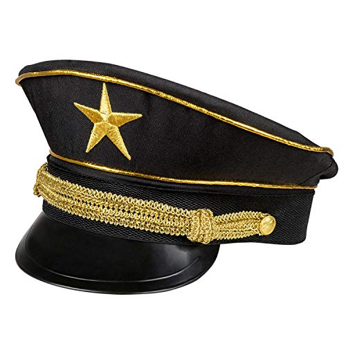 Boland 04292 Mütze General, Schwarz/Gold